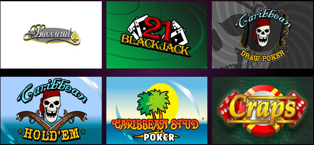 New RTG Casinos table games